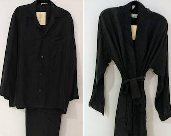 MANSILK 4PC SET Silk Robe, PJ's & Boxer Short New w Tags