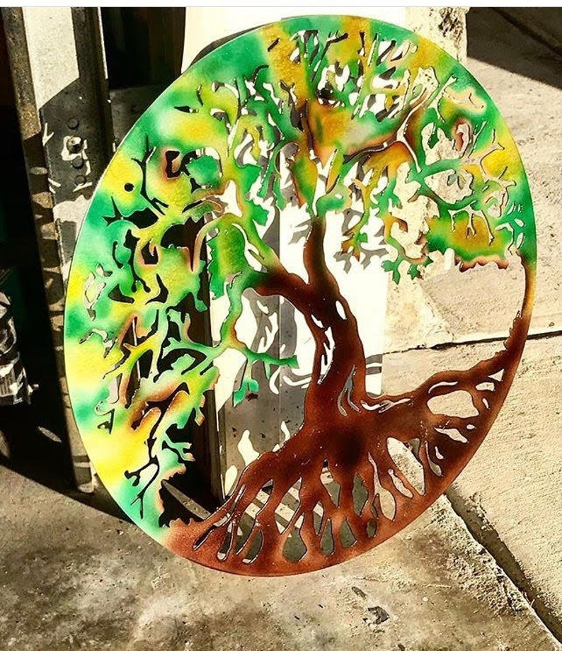 Metal Tree Tree Art Metal Wall Art Metal Tree Art Family Etsy