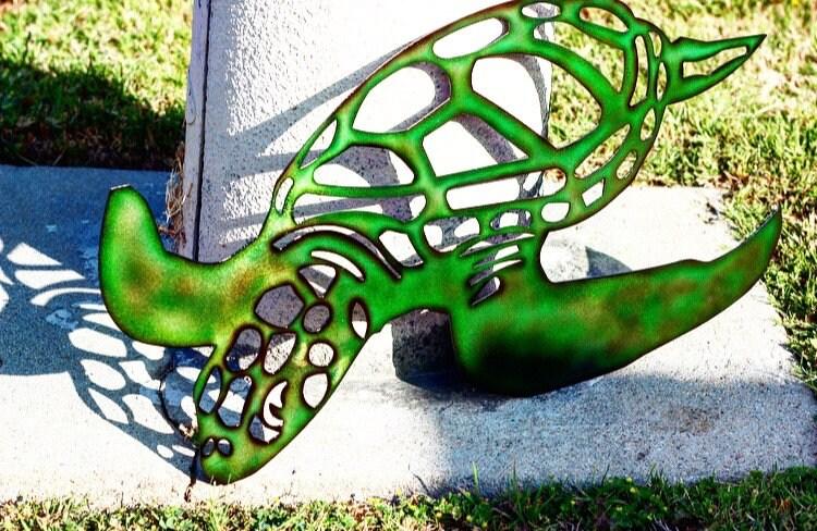 Metal sea turtle Metal wall art Metal wall decor metal | Etsy
