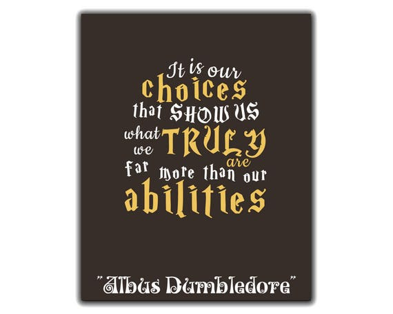 Harry Potter Print Albus Dumbledore Inspirational Quote It Is Etsy