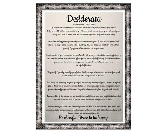 picture about The Desiderata Poem Printable identified as Desiderata. Print. Poster. Max Ehrmann Poster. Printable. Obtain. Artwork. Print Desiderata. Phrase Artwork. Poems Around Lifestyle. Desiderata Parchment.