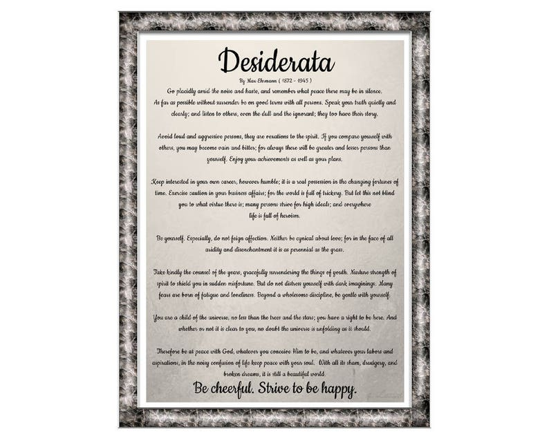 picture about Desiderata Printable named Desiderata. Print. Poster. Max Ehrmann Poster. Printable. Obtain. Artwork. Print Desiderata. Term Artwork. Poems Pertaining to Existence. Desiderata Parchment.