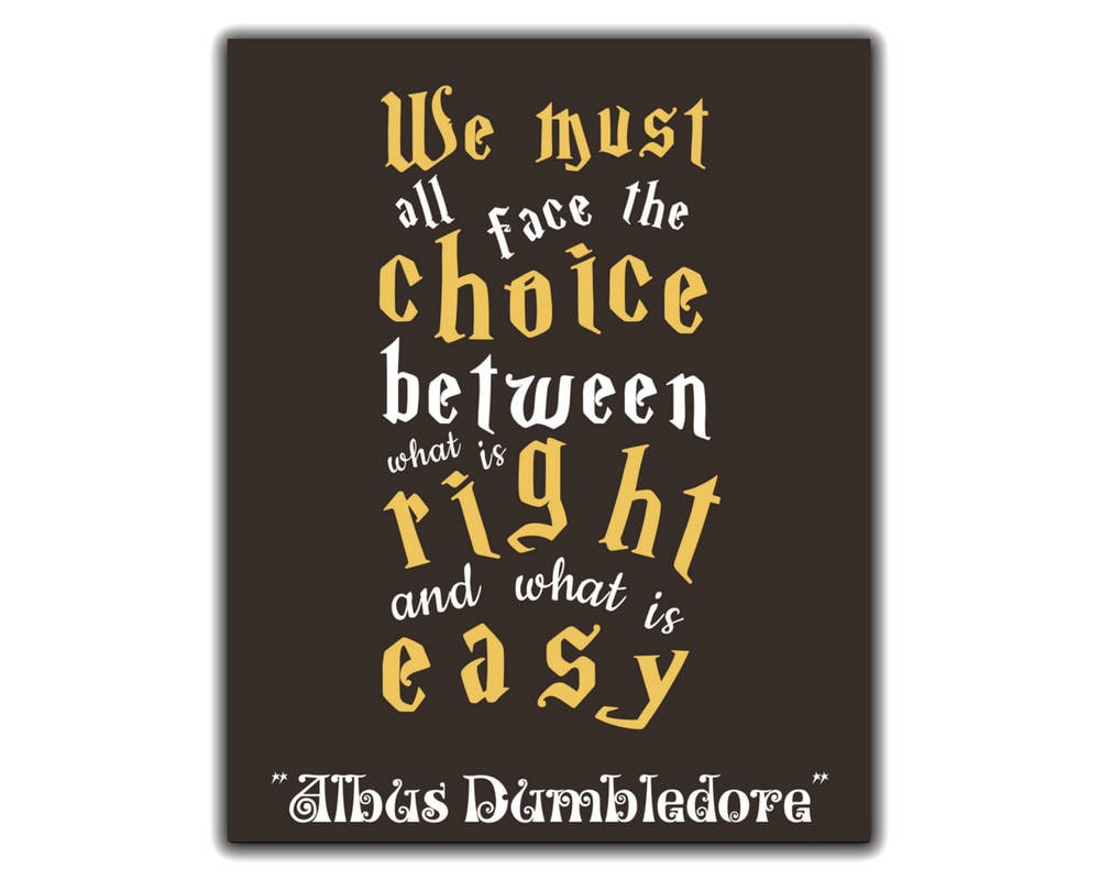 Harry Potter Printable Dumbledore Inspirational Quote We Etsy