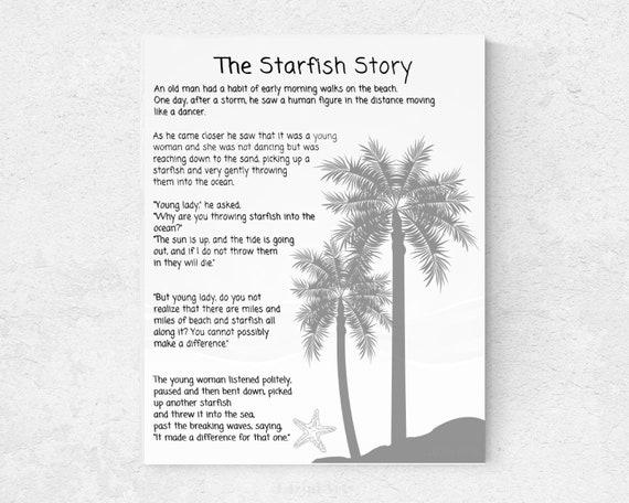 photo regarding Starfish Poem Printable titled Starfish Poem through Loren Eiseley, The Starfish Tale Printable Indicator!