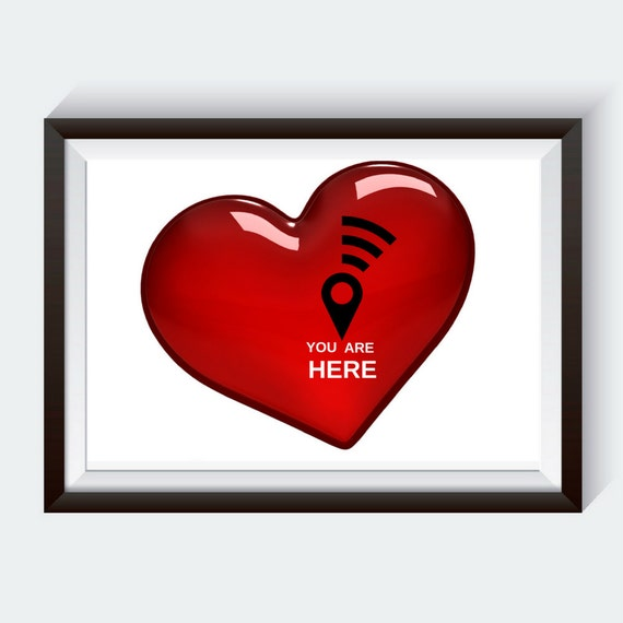 You Are Here Valentines Day Gift Quotes About Love Etsy Interesting Love On Valentines Day Quotes