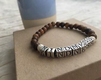 """Rosewood """"KINDNESS"""" bracelet"""