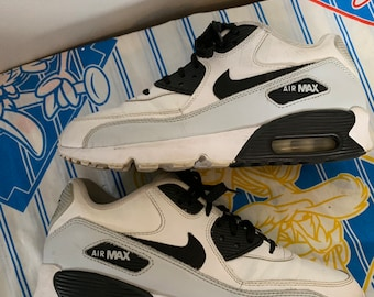 38ebd3ad93 Vintage Nike Airmax Sneakers black white grey mens 7 womens 9 athletic  sporty running shoes track soccer street kicks classic spice unisex