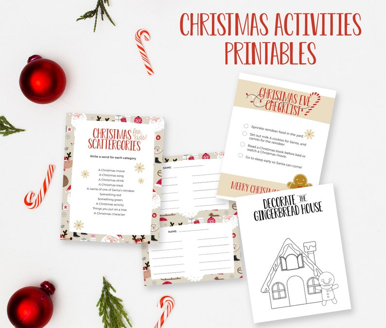 Christmas Eve Activities Printable Instant Download image 0