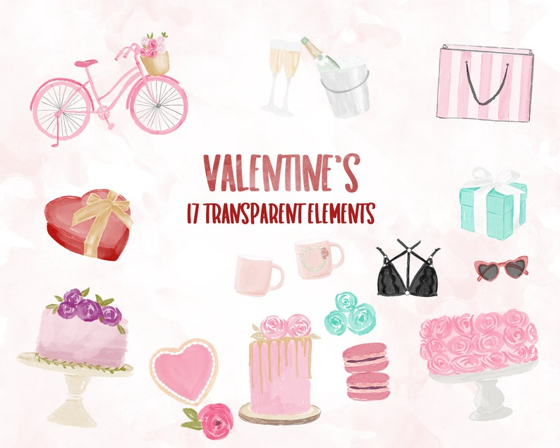 Valentine's Day Clip Art  17 Elements image 0
