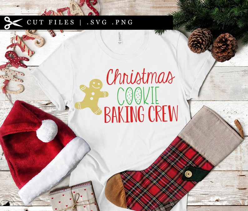 Christmas Cookie Baking Crew SVG PNG files Christmas Baking image 0