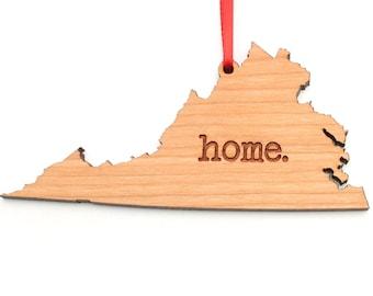 Virginia home. Christmas Ornament - VA Virginia State Ornament - Home Christmas Ornament