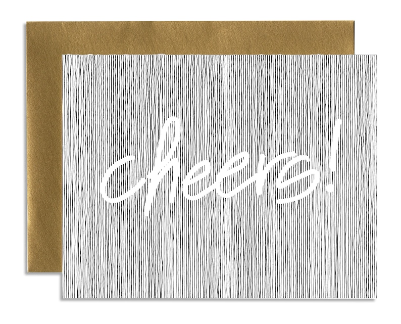 Cheers  A1 Horizontal Holiday Card Set Single or Set of 5 image 0