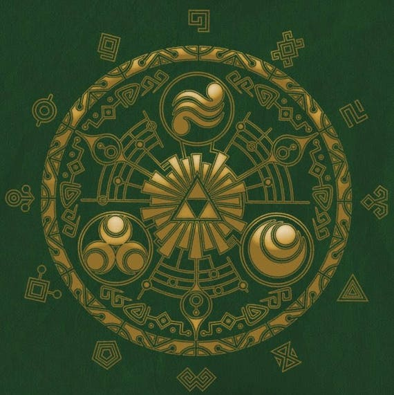 Legend Of Zelda Cross Stitch Digital Pattern Medallion Hyrule Etsy