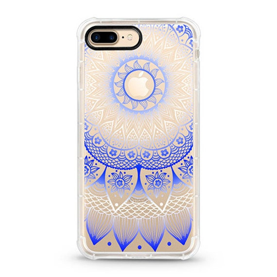 Blue Mandala Clear Iphone 8 Plus Case With Design Iphone 7 Etsy