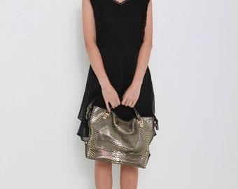Vicky Black V-Neck Dress