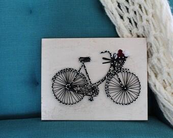 Cute Vintage Bike String Art