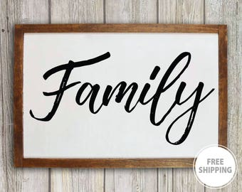 adb00d2bffe Family wall decor Family name sign Wood family sign Large