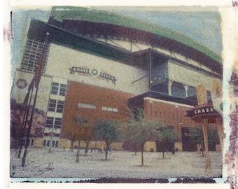 MLB AZ Dbacks Chase Field Polaroid Transfer Photo