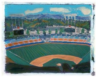 MLB LA Dodger Field Polaroid Transfer 8x10 download