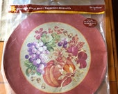 Brand NEW Original PACKAGE DesignWare Round THANKSGIVING Placemats!! Unique! Coloring On Back...Thanksgiving Table! A Must See... Won't Last