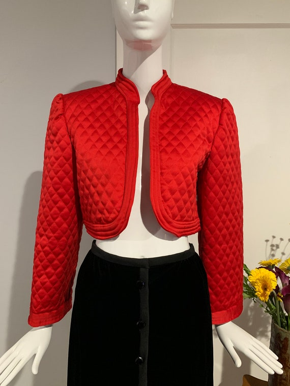 Silk Victor Costa Bolero Jacket