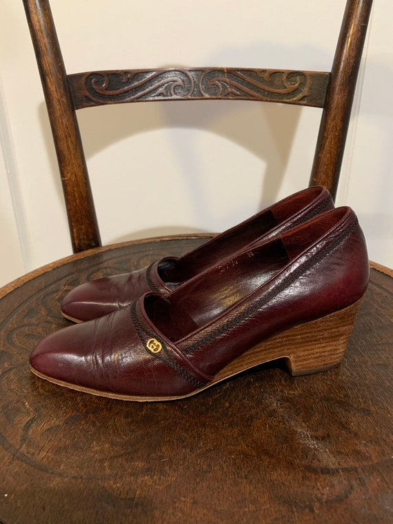 Vintage Gucci Wedge Loafers