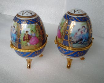 Egg Trinket Boxes Lovers Tryst