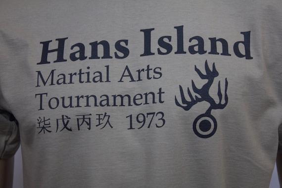 Custom Men/'s T-Shirt Tee Hans Tournament Dragon inspired Bruce Lee Last Film