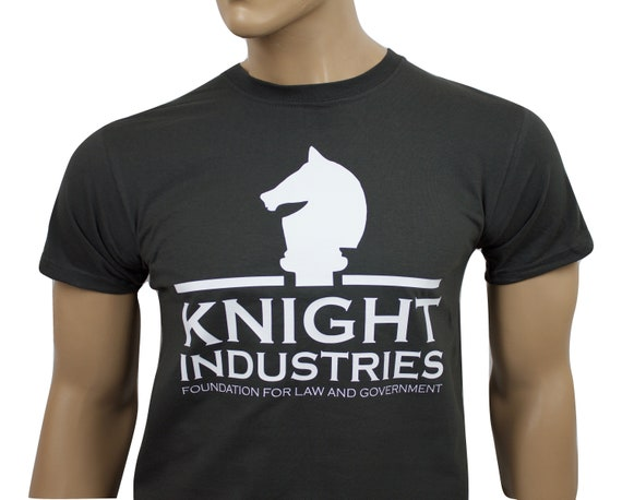 Knight Industries Black T-shirt for Men - S to 2XL