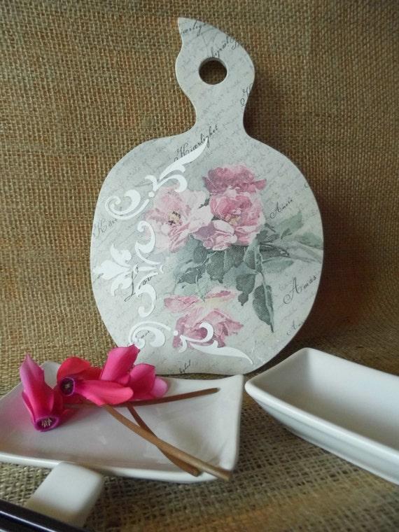 Deska Do Krojenia Dekoracyjne Deska Do Krojenia Drewna Kuchnia Pokładzie Kwiaty Pokładzie Prezent Dla Kobiet Prezent Urodzinowy Dekoracja