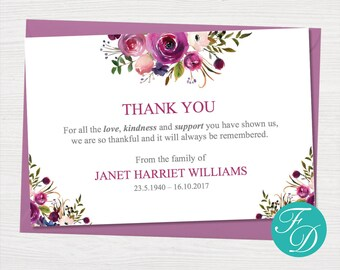 funeral thank you notes printable funeral thank you cards funeral printables funeral thank you cards funeral card funeral template 0136