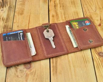 2ec121787d25 Keychain card holder Key holder wallet Key card holder Card holder with  keyring Credit card holder keychain Card case keychain Wallet key