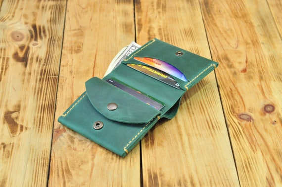 863f8f29 Gift wallet, Coach men wallet, Wallet money clip, Cash wallet, Soft leather  wallet, Green leather purse, Mens green leather wallet