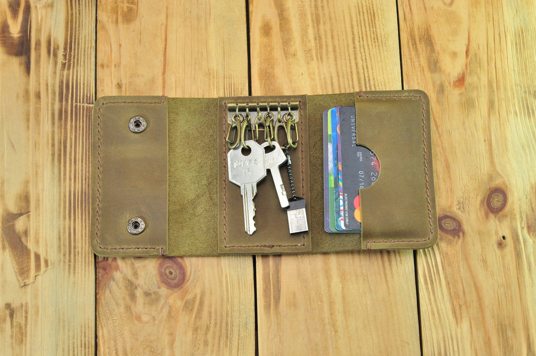 Card and key holder, Key ring credit card holder, Wallet for keys and  cards, Key card wallet, Key holder card, Key ring card holder