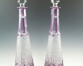 BACCARAT Crystal - Stunning Pair Cut-to-Clear FANTASIE DECANTERS - 16 1 2 quot