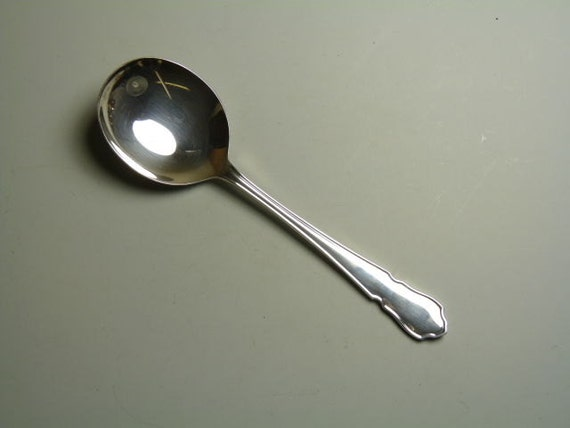 Soup Spoon  Spoons 7 EPNS A1 Silver Plate Cutlery DUBARRY Design
