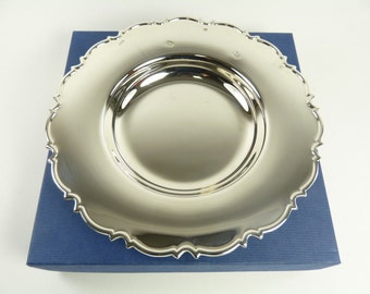 """Vintage Sterling Silver - Boxed Chippendale DISH - 8"""" - Feature Hallmarks"""
