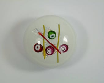 """CAITHNESS Paperweight - Noughts & Crosses - White - 2 1/2"""""""