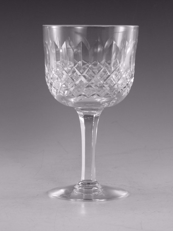 Thomas Webb Crystal Normandy Cut Port Glass Glasses 4 Etsy