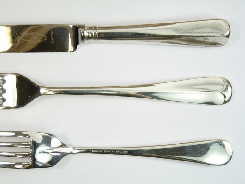 RATTAIL Pattern Fish Fork  Forks 7 BUTLER EPNS Silver Plate