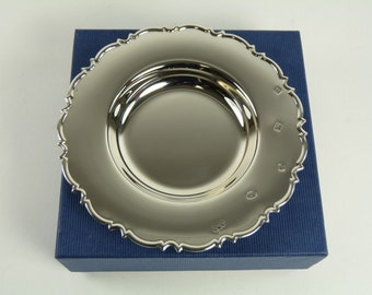 """Vintage Sterling Silver - Boxed Chippendale DISH - 5"""" - Feature Hallmarks"""
