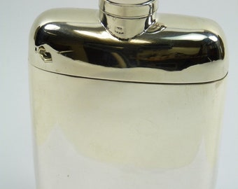 Vintage - Solid Sterling Silver - rare Giant HIP FLASK & CUP - Goldsmith Co 1900