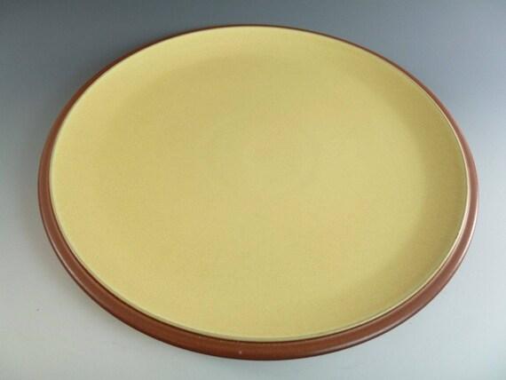 DENBY Pottery JUICE Lemon Dinner Plate / Plates 10
