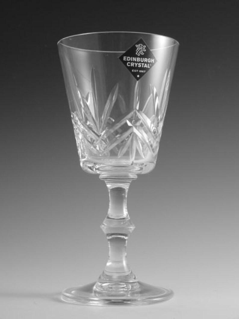 "EDINBURGH Crystal MULL Cut 6 1//8/"" Wine Glass // Glasses"
