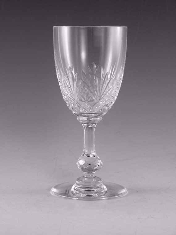 St Louis Crystal Massenet Design Wine Glass Glasses 5 Etsy