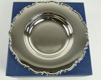 """Vintage Sterling Silver - Boxed Chippendale DISH - 5"""""""