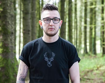 Black Stag Embroidered T-shirt