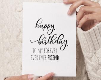 Birthday Card for Friend DIGITAL DOWNLOAD Printable