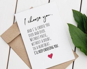 PRINTABLE Anniversary Card for Husband Boyfriend