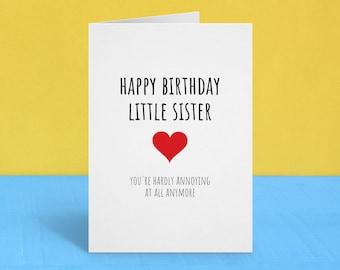 Sister Birthday Card DIGITAL DOWNLOAD Funny